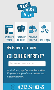 Veni Vidi Vize  Mobile Screenshot