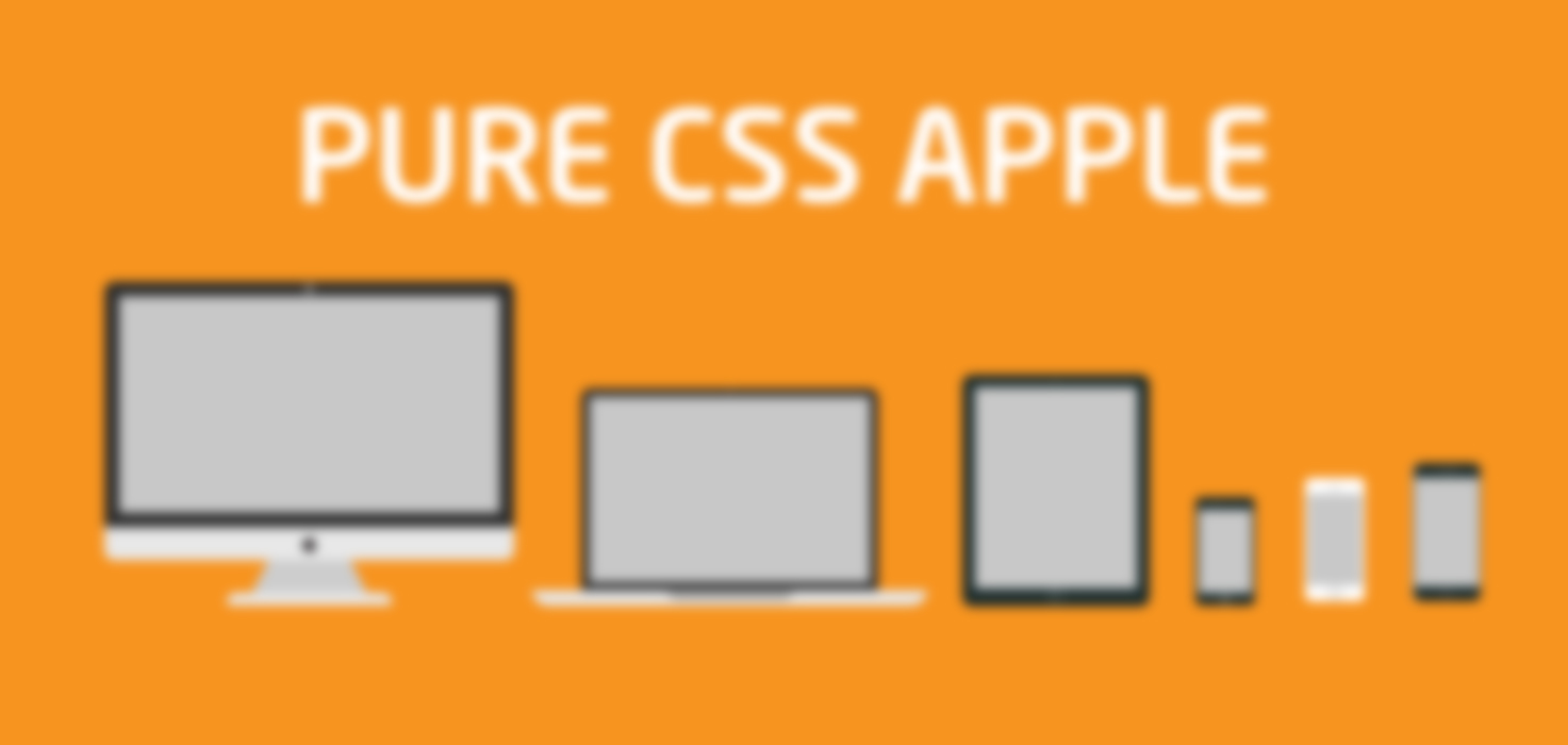 Pure CSS Apple